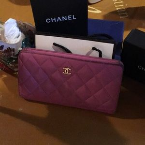Authentic Lilac Chanel Bifold Wallet